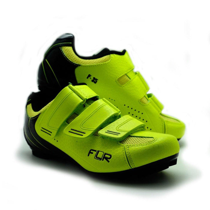 FLR F-35 III Road Shoes - Neon Yellow