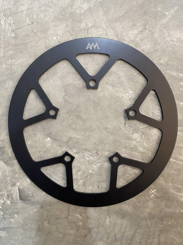 Moulton Chain Guard with AM Logo (Black) - SpinWarriors