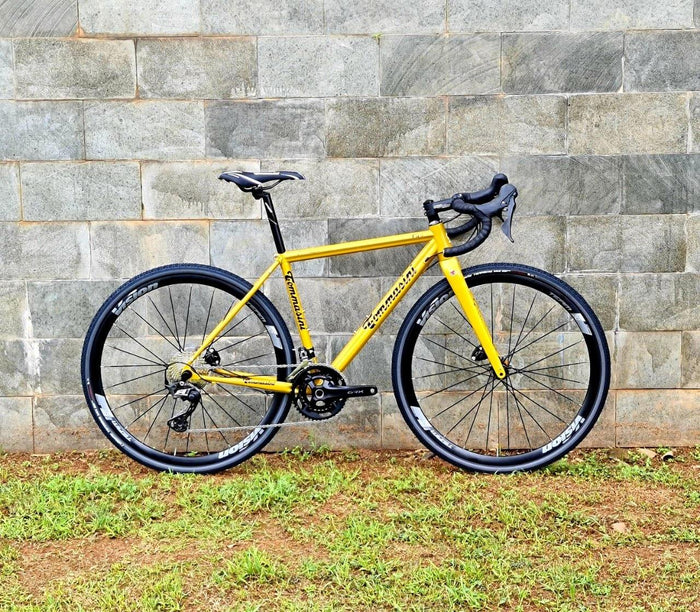 Tommasini Fire Gravel Disc Bike with Shimano GRX 600 - Golden Yellow