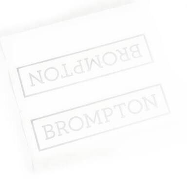 Brompton Decal - White