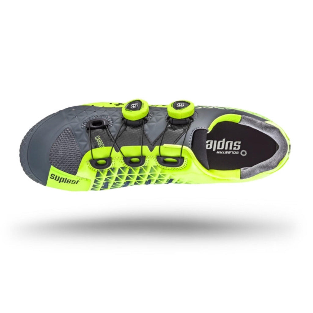 Suplest Edge/3 Pro MTB Shoes - Grey/Neon Yellow
