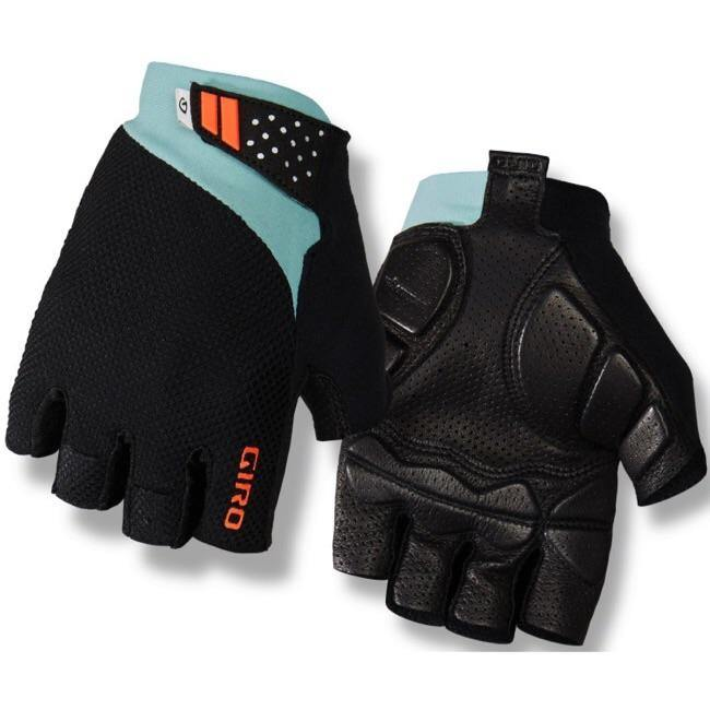 Giro Monaco II Gel Gloves - Frost/Charcoal/Vermillion