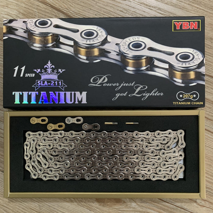 Yaban SLA211 Titanium Silver/Gold 11 Speed Chain
