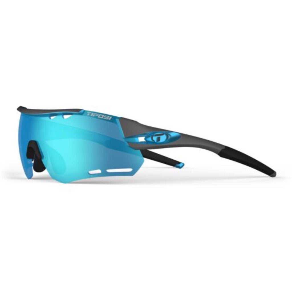 Tifosi Alliant Gunmetal Blue Sunglasses - Clarion Blue, AC Red & Clear Lenses