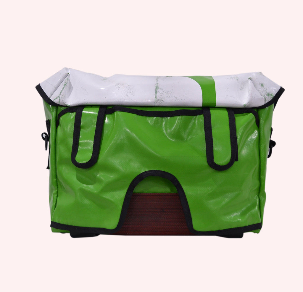 UPSO Brompton Ferrybridge Folder Bag - Green/White OLD