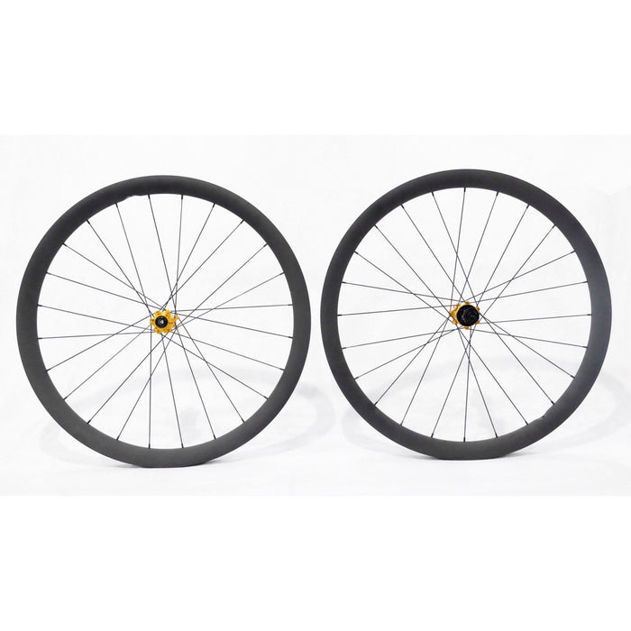 Carbon Ti X-Wheel SpeedCarbon SP 38 Disc Clincher Wheelset - Gold Hub