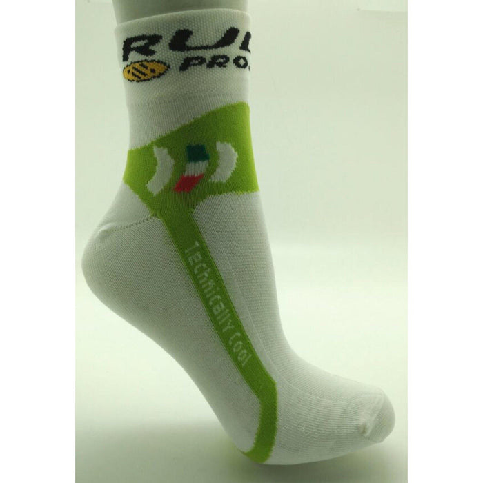 Rudy Project Sock - White/Lime Green