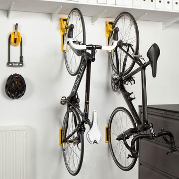 Cycloc Endo Wall Bike Rack - Yellow - SpinWarriors