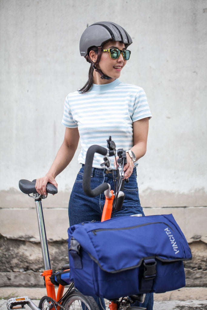 Vincita B207A Birch Brompton Front Bag - Blue