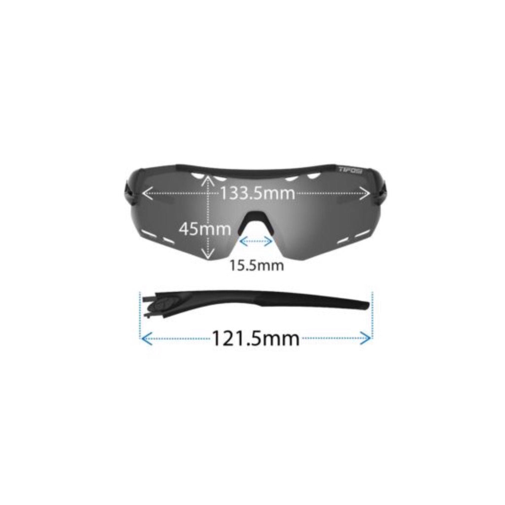 Tifosi Alliant Black/Red Sunglasses - Smoke, AC Red & Clear Lenses