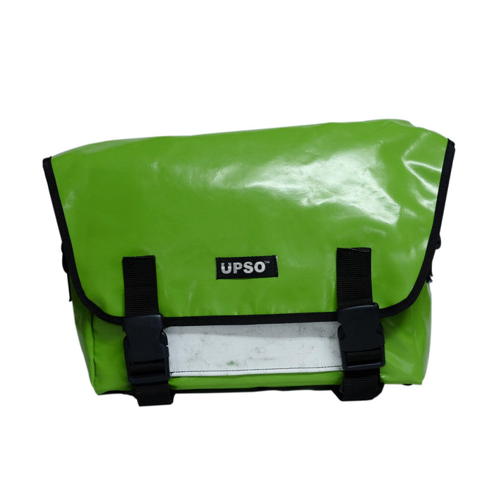 UPSO Brompton Ferrybridge Folder Bag - Green/White Stripe