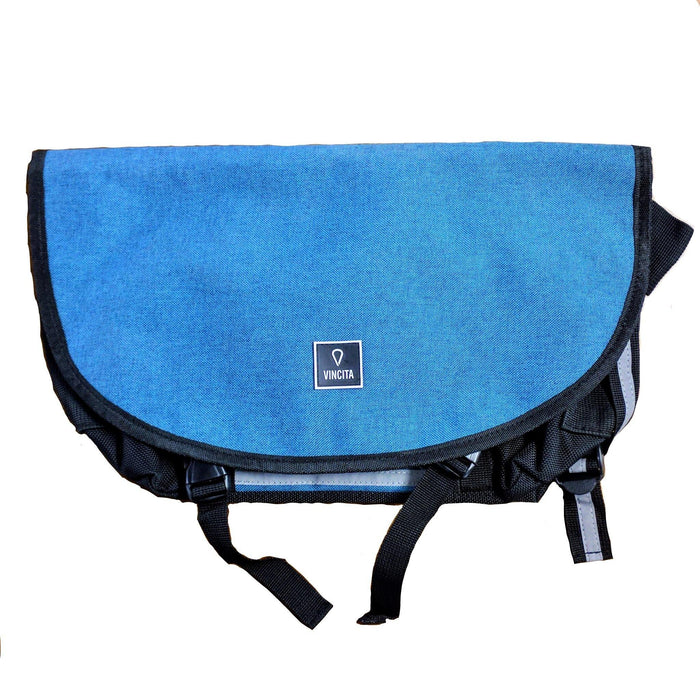 Vincita B205 Small Messenger Bag - Blue