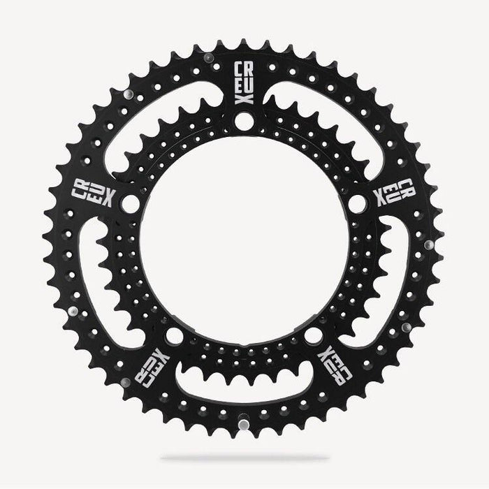 Bespoke Drillium Double Road Chainring - Creux (53x39/BCD130)