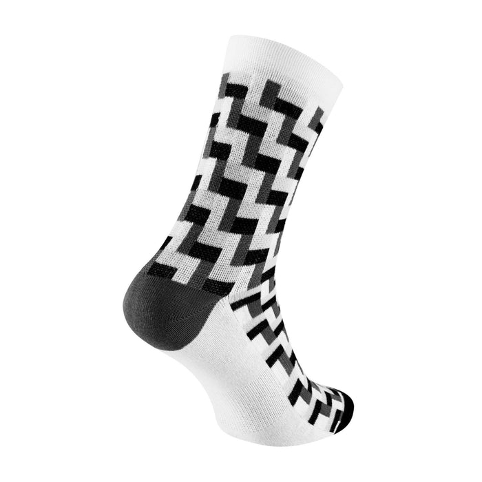 Chapeau! Midweight Tile Print Tall Sock - Black
