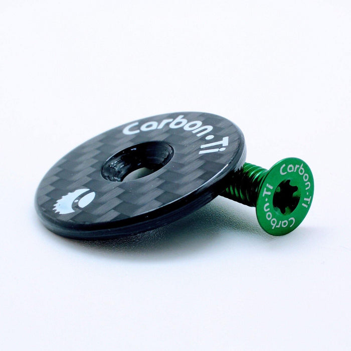 Carbon Ti X-Cap - Glossy Carbon/Green