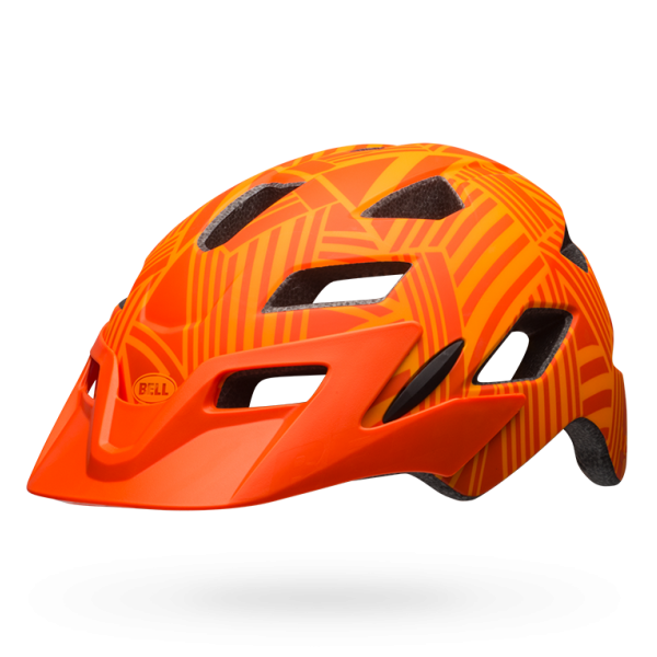 Bell Sidetracker Youth Helmet - Matt Tang/Orange Seeker