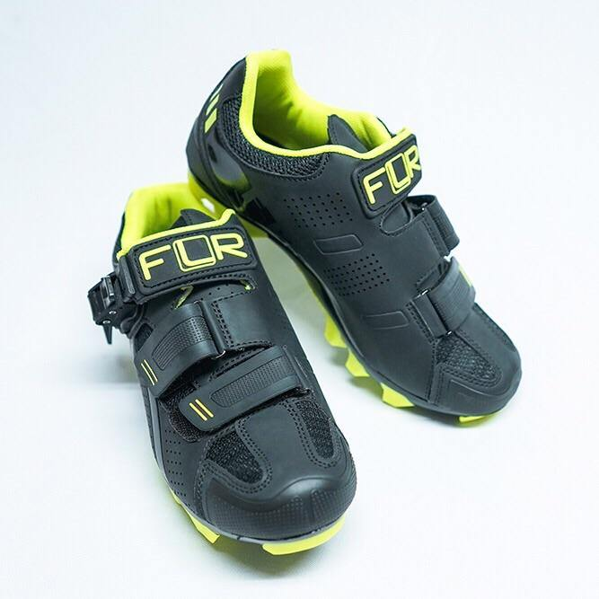 FLR F-65 III MTB Shoes - Black/Neon Yellow