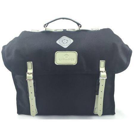 Carradice City Folder M Bag - Black/White Straps