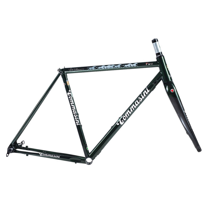 Tommasini Fire Disc Frameset - Bristish Racing Green with 7 Horses