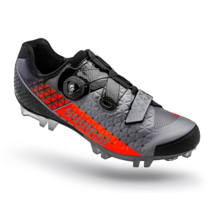 Suplest Edge/3 Performance MTB Shoes - Grey/Neon Orange