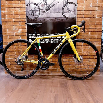 Tommasini Fire Road Disc Bike with Shimano Ultegra - Yellow Tour de France - SpinWarriors