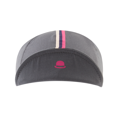 Chapeau! 3 Stripe Cotton Cap - Flint Grey
