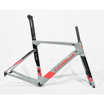 Carrera TD01 Air Carbon Road Frameset - Glossy Grey/Red/Black - SpinWarriors