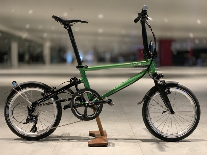 Tyrell IVE Folding Bike - May Green/Gloss Black