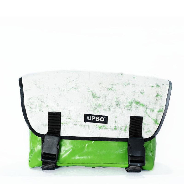 UPSO Brompton Ferrybridge Folder Bag - White/Green