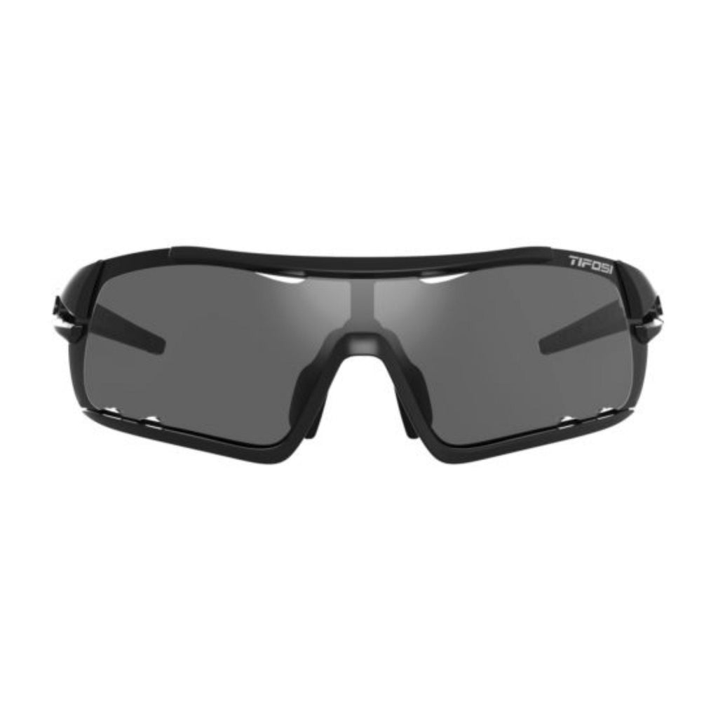 Tifosi Davos Matte Black Sunglasses - Smoke, AC Red & Clear Lenses