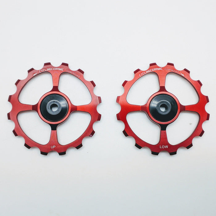 CyclingCeramic Pulley Wheels SRAM 11 - Red