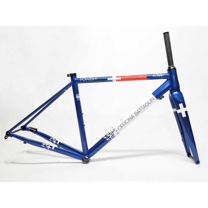 Battaglin Power+ Disc Steel Frameset - Blue