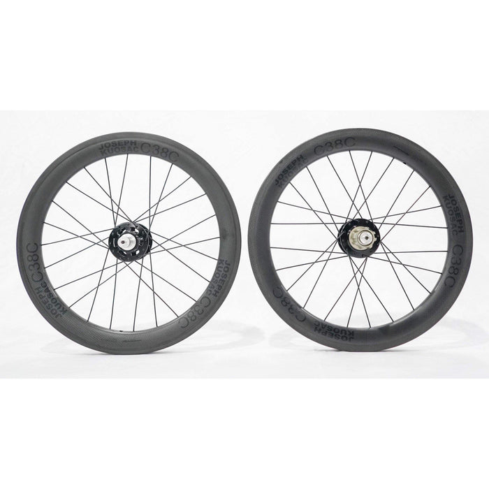 "Joseph Kuosac C38C 17"" Carbon Wheelset (369) - Black Decal"
