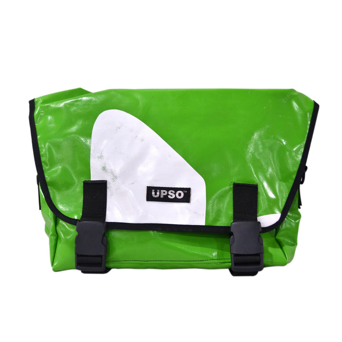 UPSO Brompton Ferrybridge Folder Bag - Green/White Front
