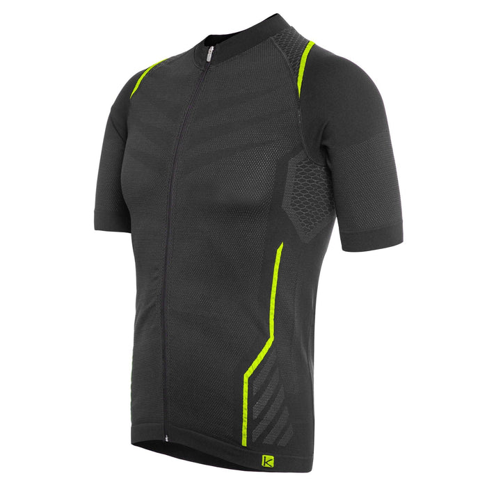Funkier Respirare Seamless Jersey - Black/Yellow