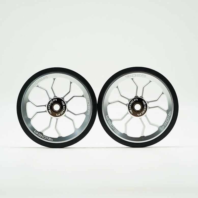 Ridea ESEW2-SR Brompton Oversized Easy Wheel - Silver (2pcs) - SpinWarriors