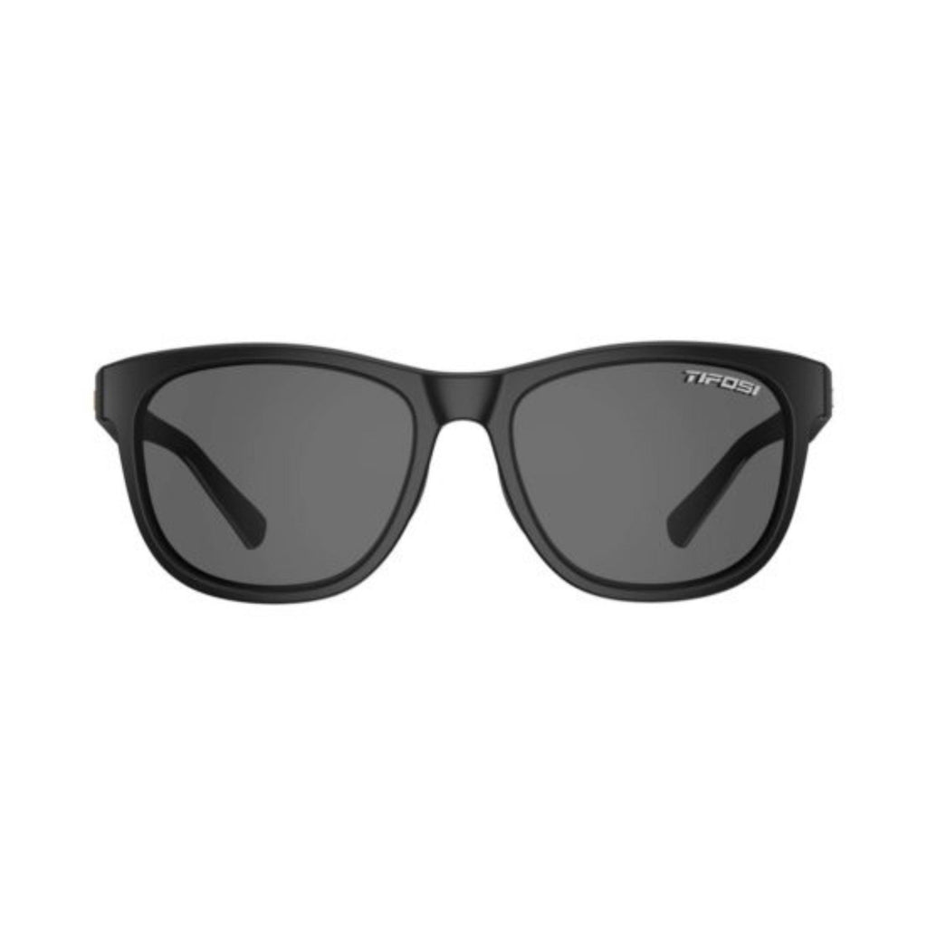 Tifosi Swank Satin Black Sunglasses - Smoke Polarized Lens