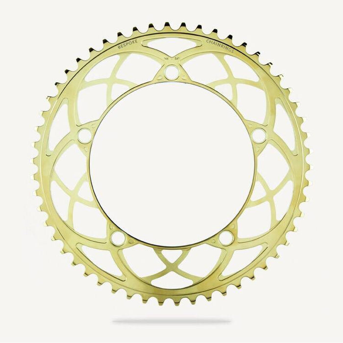 Bespoke Rose Window BCD130 Chainring - Titanium Gold