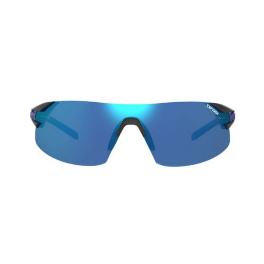 Tifosi Podium XC Crystal Blue Sunglasses - Clarion Blue, AC Red & Clear Lenses