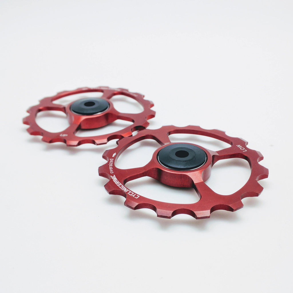 CyclingCeramic Pulley Wheels Shimano 11 - Red