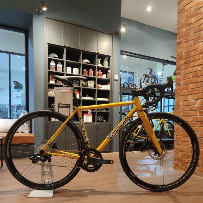 Tommasini Fire Road Disc Bike with Campagnolo Chorus - Golden Yellow