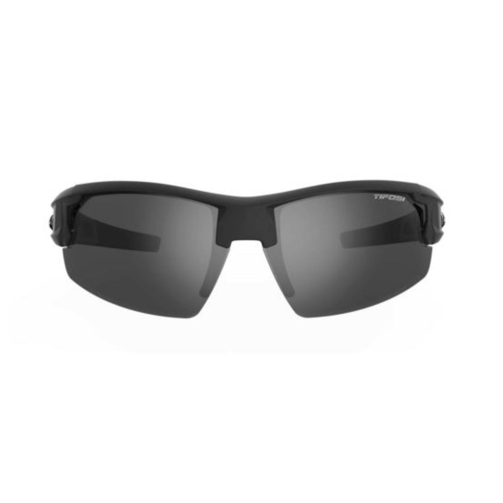 Tifosi Synapse Matte Black Sunglasses - Smoke, AC Red & Clear Lenses