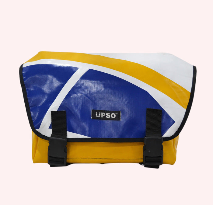UPSO Brompton Ferrybridge Folder Bag - Blue/Yellow/White