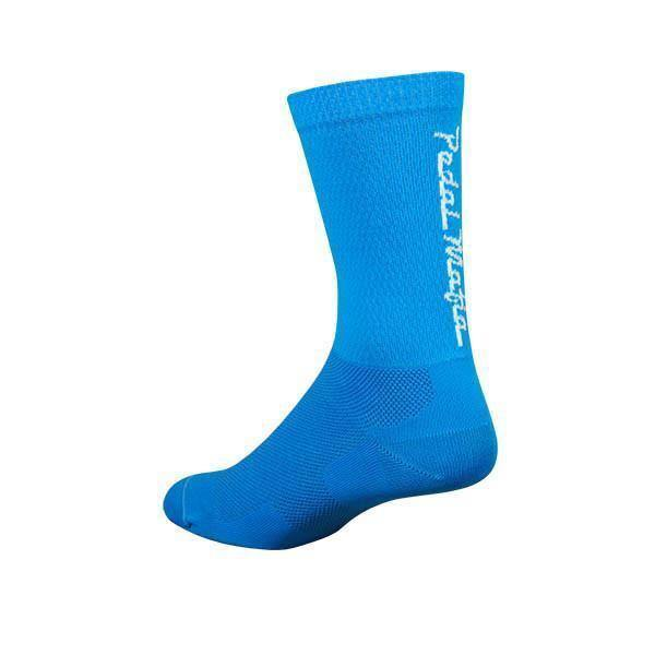 Pedal Mafia Bright Blue & White Tech Mesh Sock