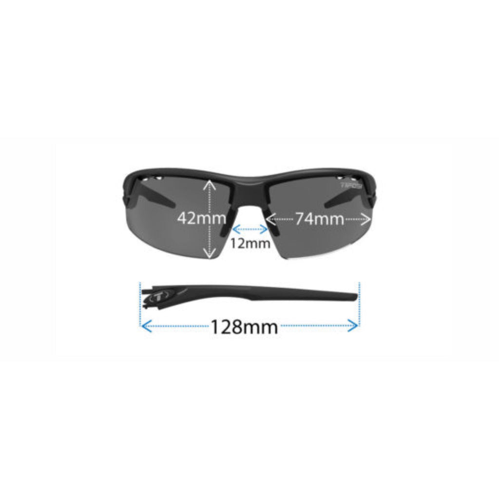 Tifosi Crit Matte Black Sunglasses - Smoke, AC Red & Clear Lenses
