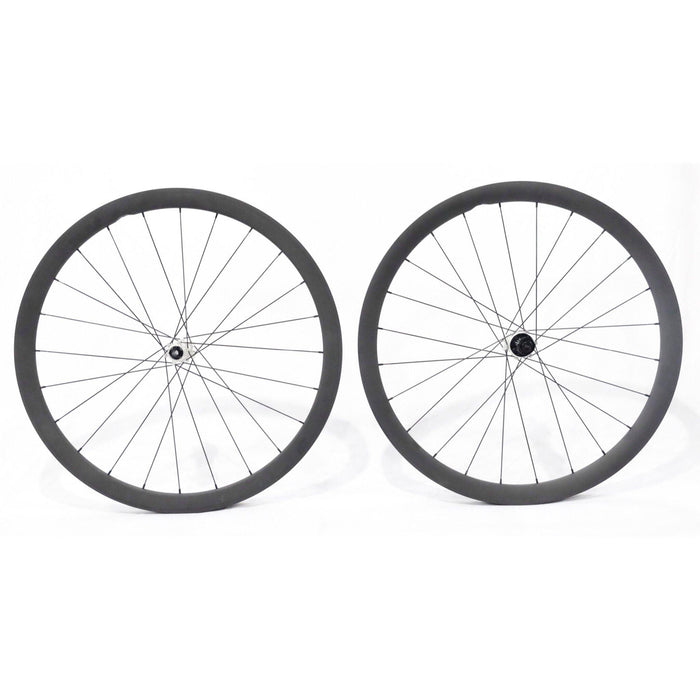Carbon Ti X-Wheel SpeedCarbon SP 38 Disc Clincher Wheelset - Silver Hub
