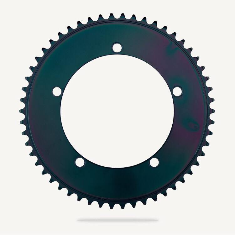 Bespoke Stealth Rose Aero BCD130 Chainring - Titanium Black Chrome