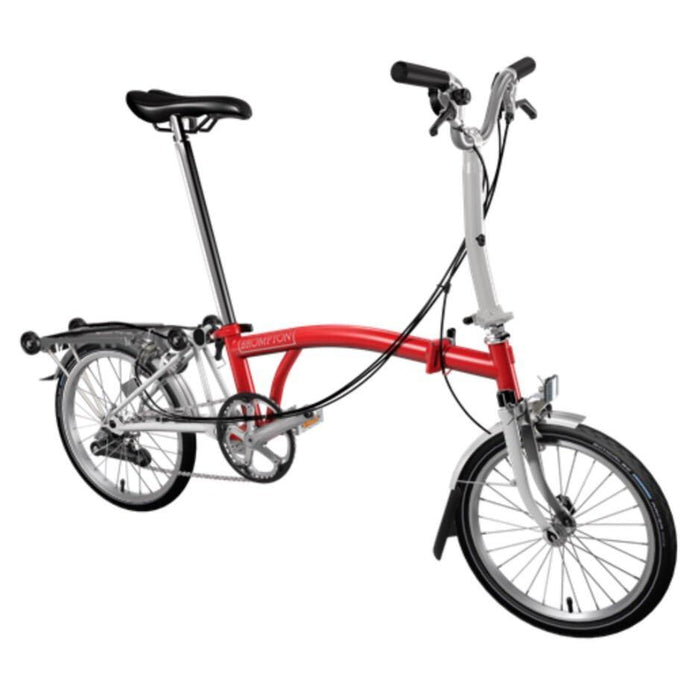 Brompton M6R 2019 - Red/Papyrus White