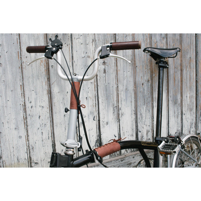 Souma Leather Brompton Frame & Stem Cover - Whiskey