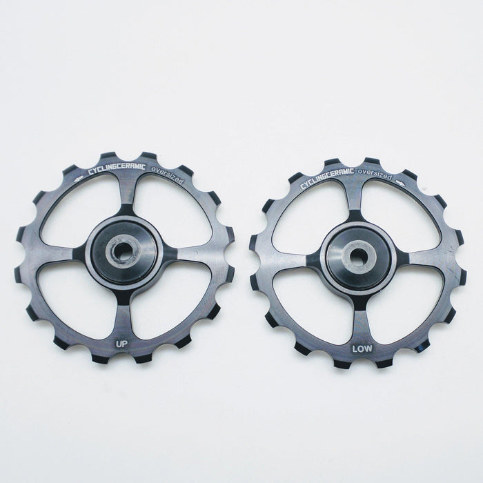 CyclingCeramic Pulley Wheels Shimano 11 - Black